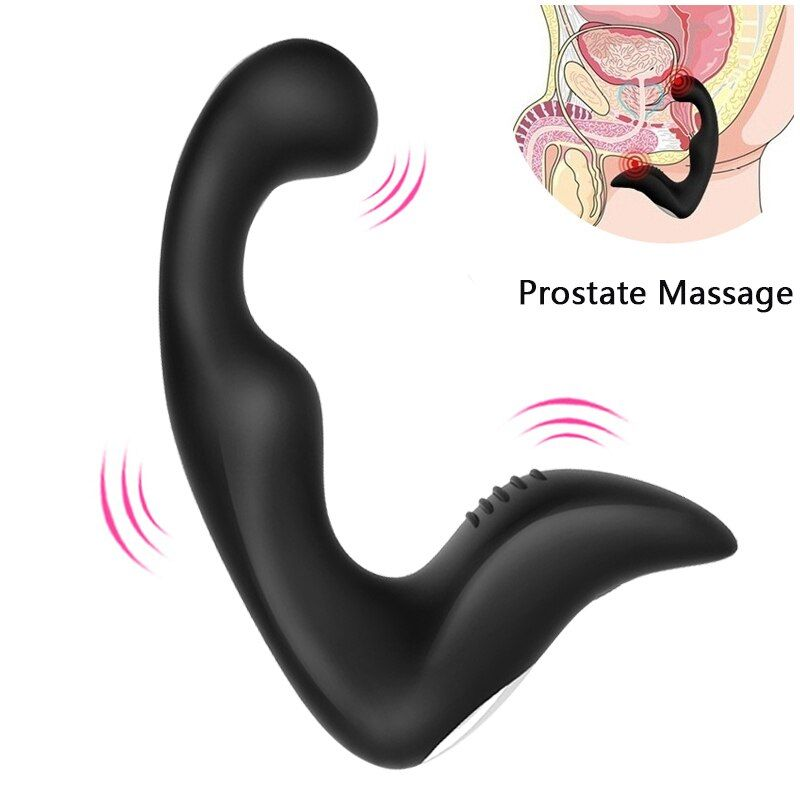 Anal Plug Vibrator Prostate Massager Silicone 10 modes Butt Plug Sex Toys for Men Masturbator Anal Toys for Adult Waterproof