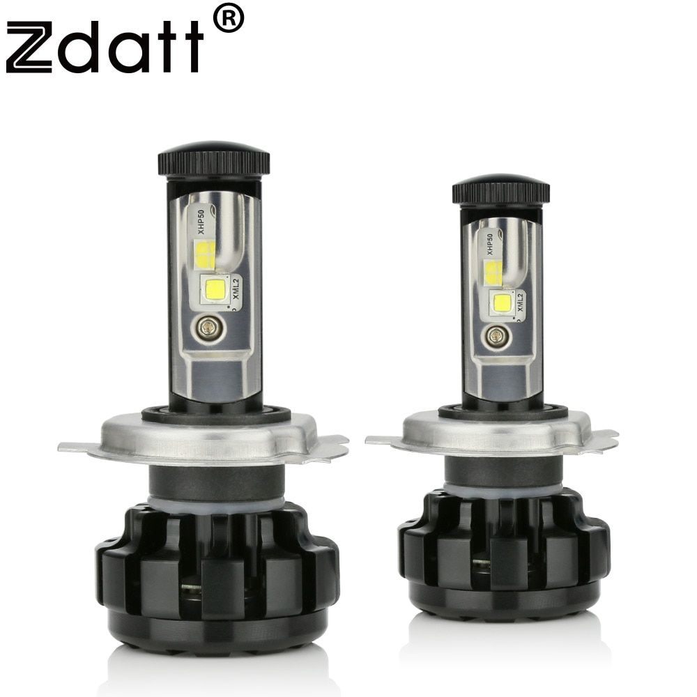 Zdatt Super Bright H4 Led Bulb 100W 14000LM Headlight Canbus H7 H8 H9 H11 9005 HB3 9006 Car Led Light 12V Lamp Automobiles 6000K