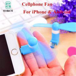 100% Testé Micro USB Flexible Mini Fans Cooler Ventilateur De Main de Téléphone pour Samsung Xiaomi Android Téléphone Portable Ventilateur pour iPhone 5 6 6 s 7 Plus