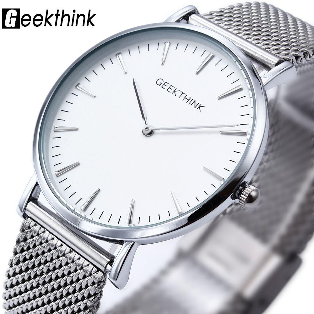 New ultra slim Top GEEKTHINK brand Quartz-Watch Men Casual Business JAPAN Analog Watch Men Relogio Masculino