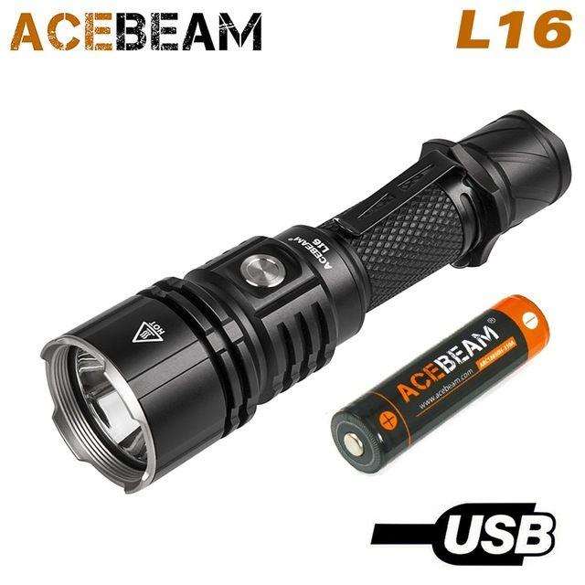 ACEBEAM L16 XHP35 hallo lampe 2000 lumen licht taschenlampe 18650 direkt langen-reichweite taschenlampe