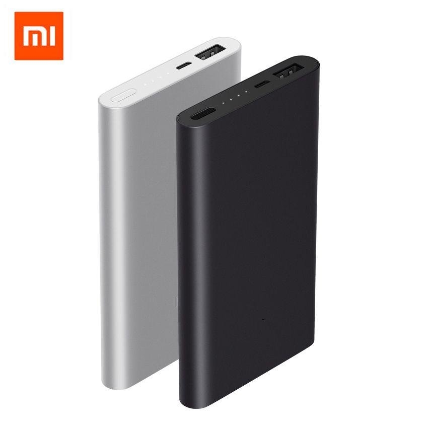 Original Xiao mi Baterías portátiles 2 10000 mAh carga rápida powerbank que carga rápida batería externa con color