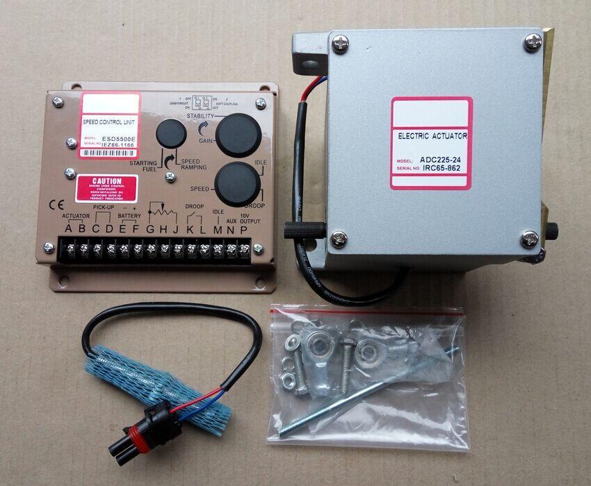 1PCS ADC225-12V or ADC225-24V Generator Actuator ADC225 12V or ADC225 24V + 1PCS speed controller ESD5500E Governor + 3034572