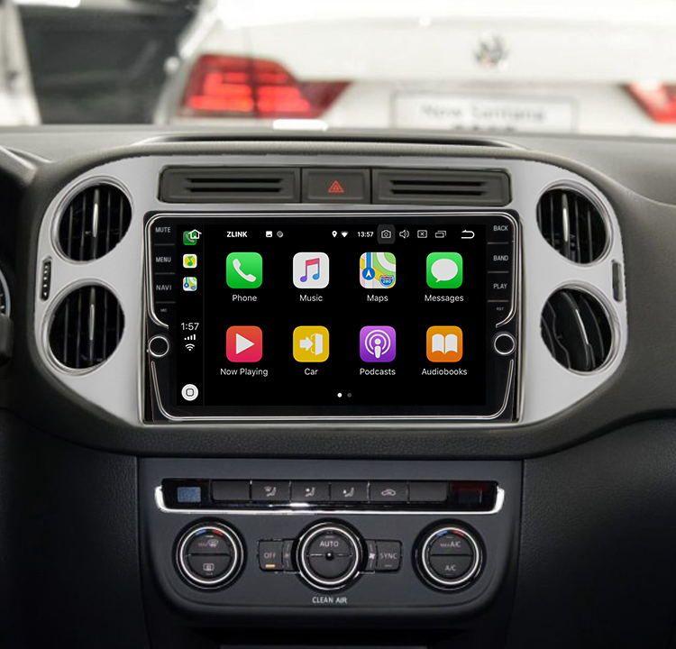 9 4 RAM 64 ROM Android 8.1 Auto DVD GPS Navigation Multimedia-Player Für VW Tiguan 2010-2015 32EQ DSP 4G SIM Karte Slot Optional