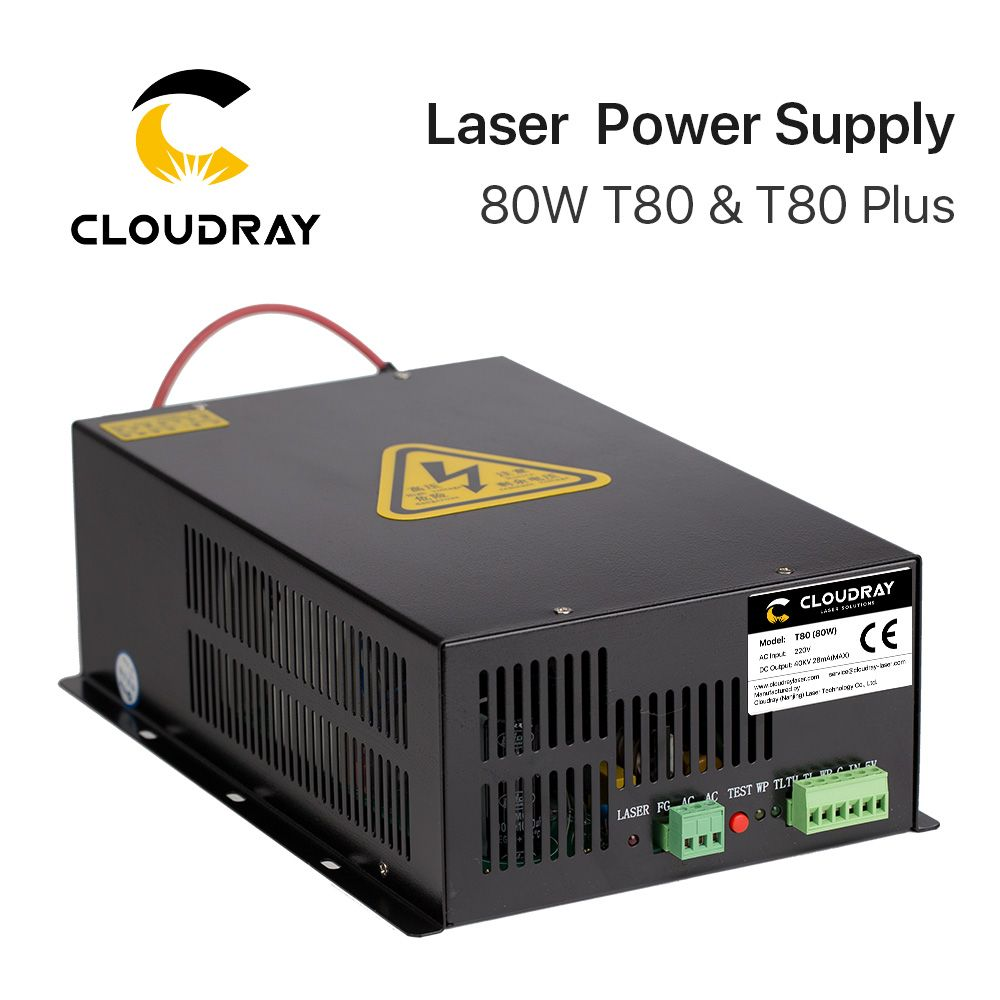 Cloudray 80W CO2 Laser Power Supply Source for CO2 Laser Engraving Cutting Machine HY-T80 T / W Plus Series Long Warranty