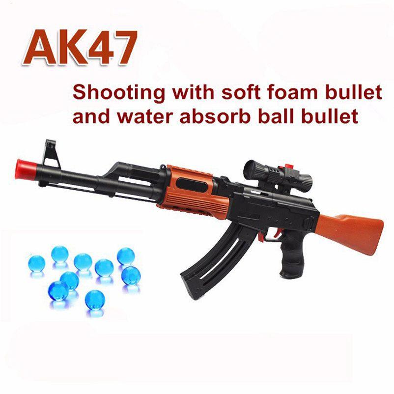 AK 47 Toy Gun 3 Pcs Soft Bullet 400 Pcs Water Absorb Bullet Pistol Gun Soft Foam Bullet Orbeez Water Gun Airgun Toys For Kids