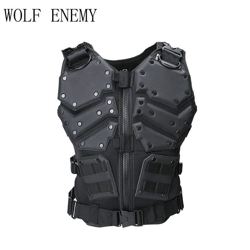 Molle Tactical Military Army Hunting Combat G.I.J Body Vest Body Protector Black
