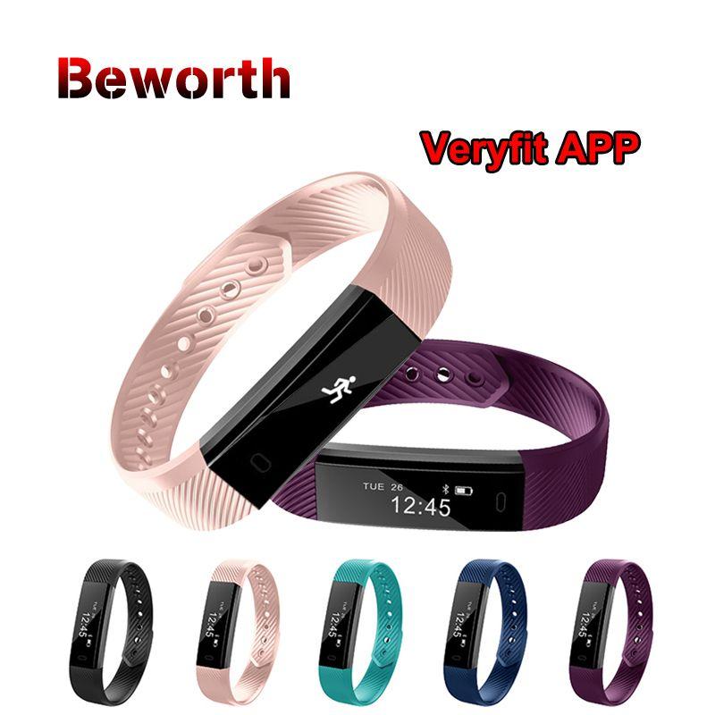 ID115 Smart Wristband Fitness Tracker Pedometer Bluetooth Smartband Sports <font><b>Bracelet</b></font> Band Veryfit APP Alarm Clock pk mi band 2 3