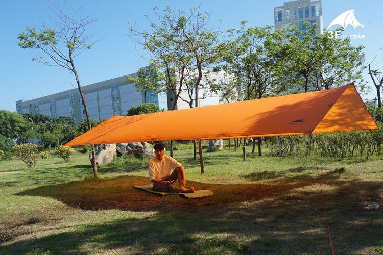 3F Ul Gear Tarps 15D Silicon Tarpe Ultralight Sun Shelter Beach Tent Pergola Awning Canopy Taffeta Tarp Camping Sunshelter