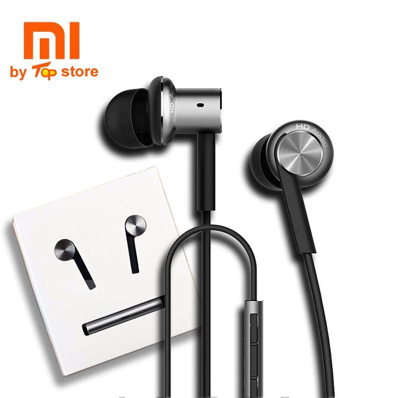 Origine Xiao mi xio mi mi Hybride multi-unité Écouteurs avec mi c À Distance In-Ear piston 3 Casque écouteurs pour Mobile Téléphone dual core