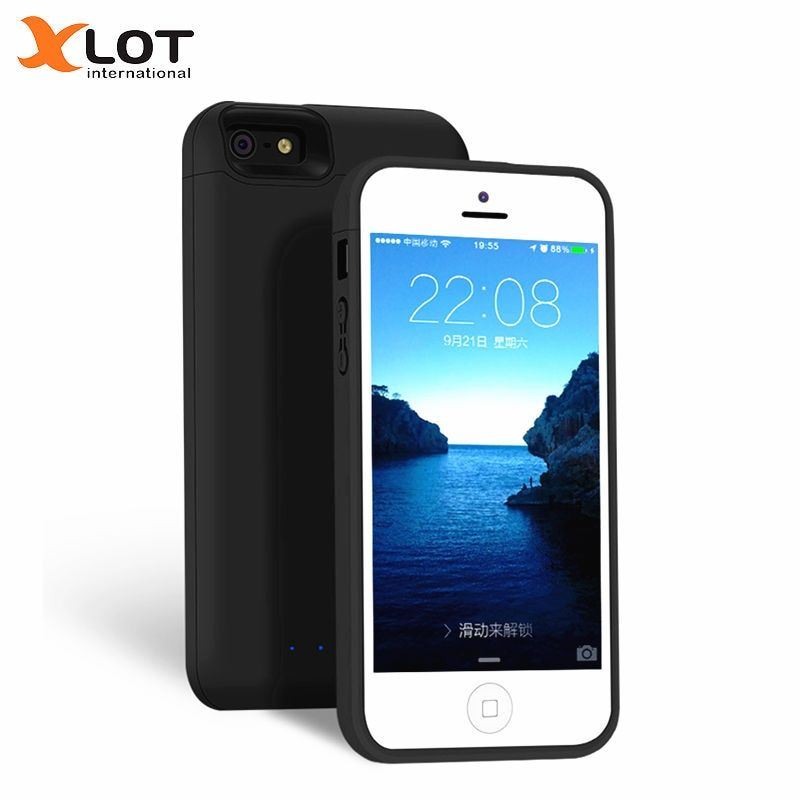 XLOT 4000mAh Battery Charger Case for iPhone 5 5s SE slim quality Power Case External Battery Backup Charging Case for iPhone SE