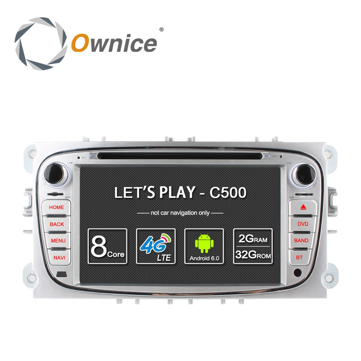 Ownice C500 4G LTE Android 6.0 Octa 8 Core Auto Dvd GPS für FORD Mondeo S-MAX Verbinden FOCUS 2 2008 2009 2010 2011 32G ROM