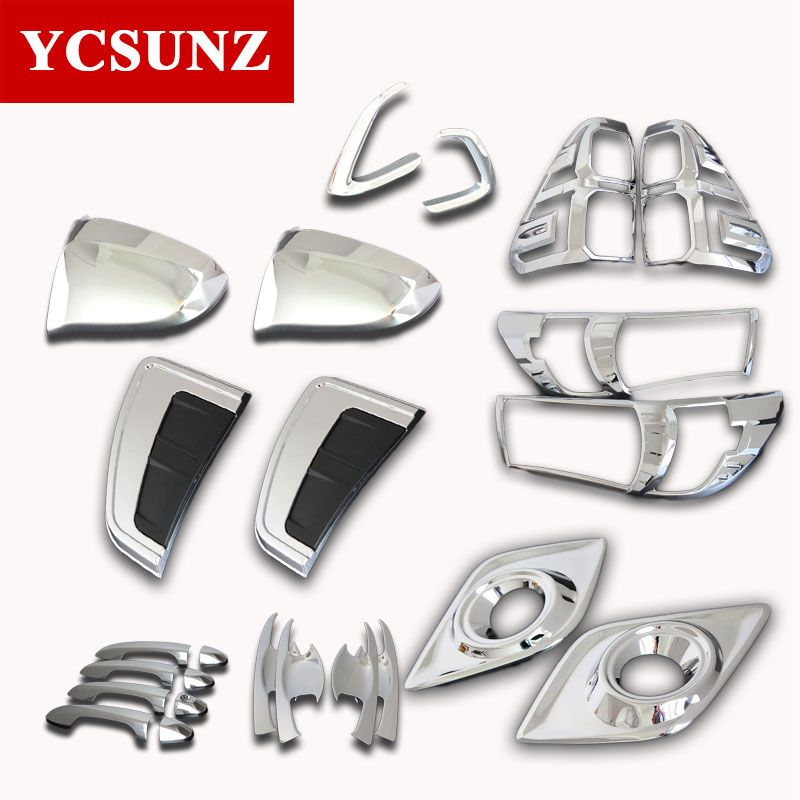 2016-2017 For Toyota Hilux Chrome Kit Accessories Chrome Kit For Toyota Hilux Revo Basic Versions Car Hilux Decorative Ycsunz