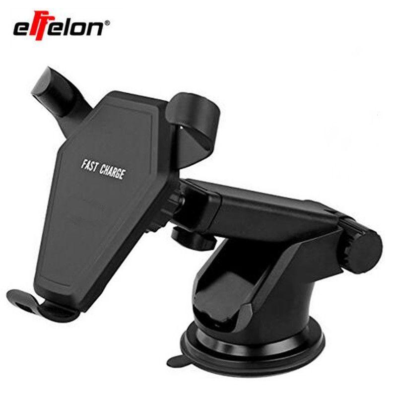 Effelon Multi-funtion Qi Wireless-ladegerät Lade-Pad Telefon Halter Drahtlose Auto Ladegerät Für Samsung Galaxy Note5 S6 S7 S8