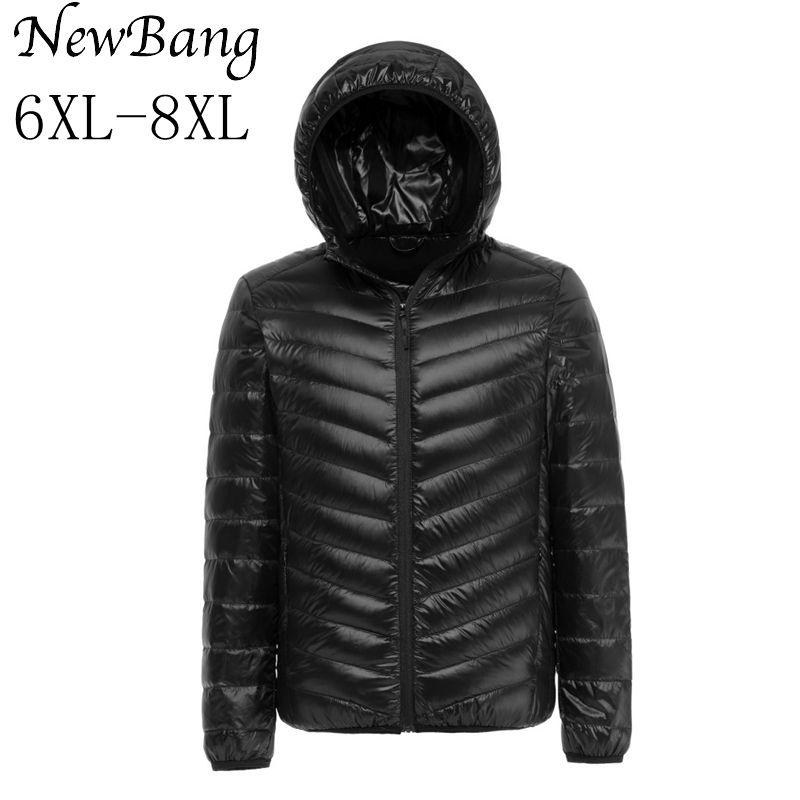 NewBang 6XL 7XL 8XL Plus Down Coat Male Ultralight Down Jacket Men Windbreaker Feather Parka Man Winter Large Size Outdoors