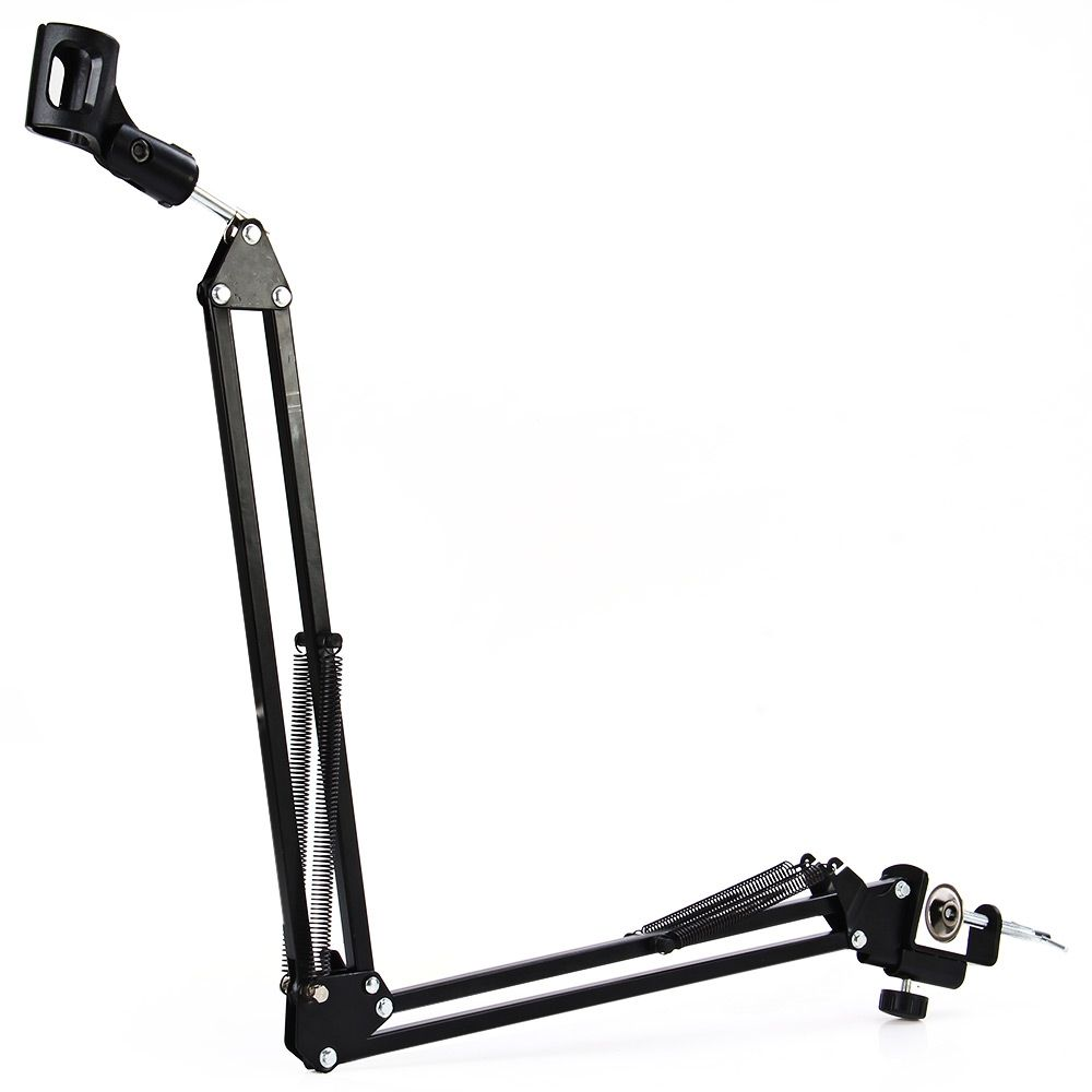 Extendable Recording Microphone Holder Mounting ClampSuspension Boom Scissor Arm Stand Holder 270 degreen with Mic Clip Table