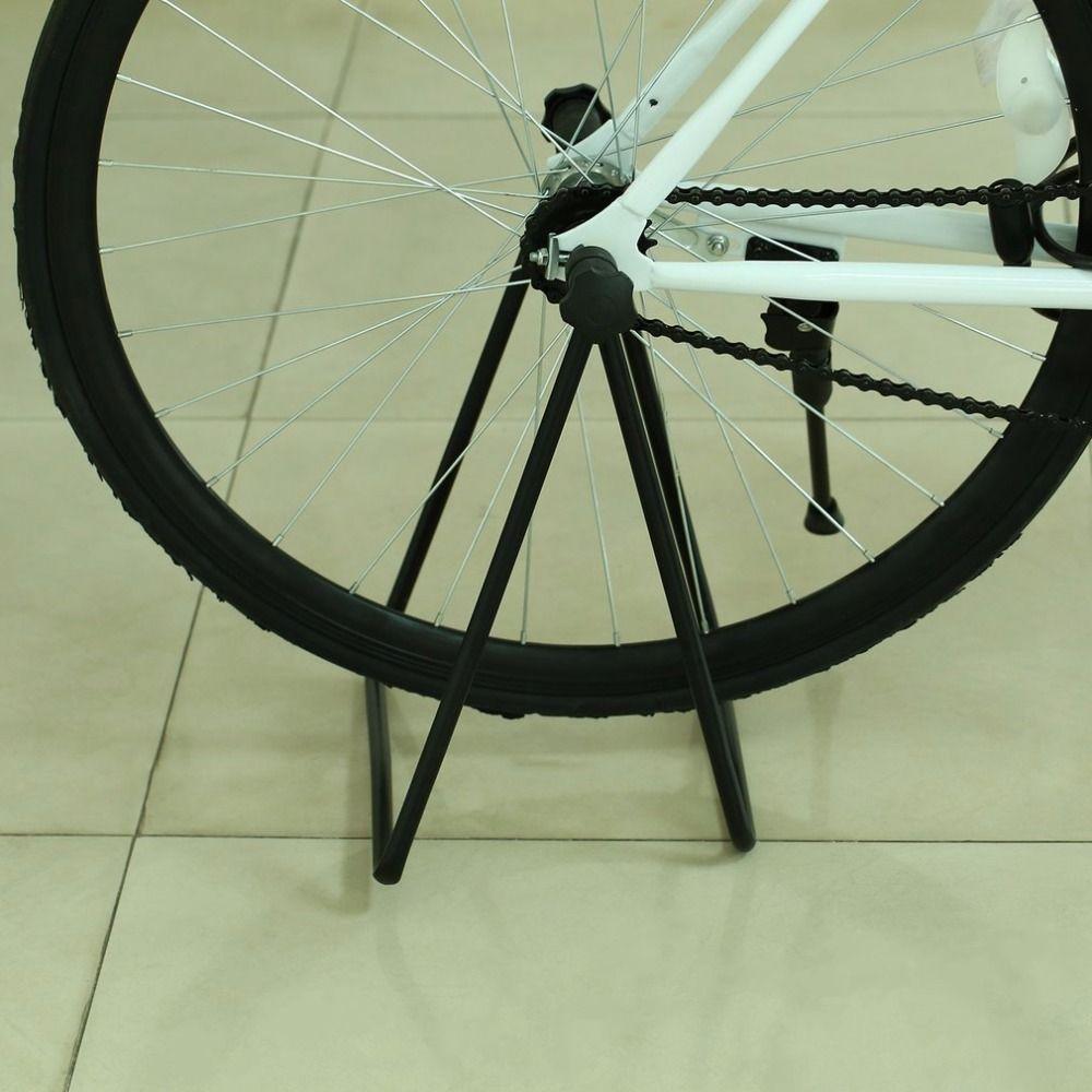 Universal Flexible Fahrrad Stehen Display Dreibettzimmer Radnabe Fahrrad Montageständer Stoß-standplatz für Parkplatz Klapp