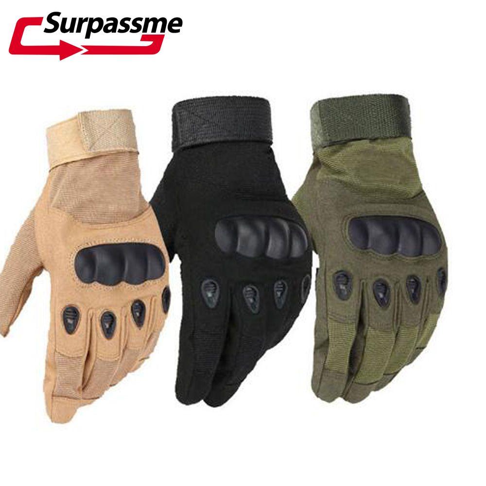 Doigt complet moto gants en cuir hiver course respirant Motocross gants Sports de plein air militaire tactique gant hommes femmes