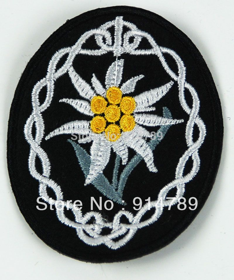 WWII GERMAN WH HEER BERG TRUPPEN EDELWEISS HÜLSE INSIGNIA PATCH-33144