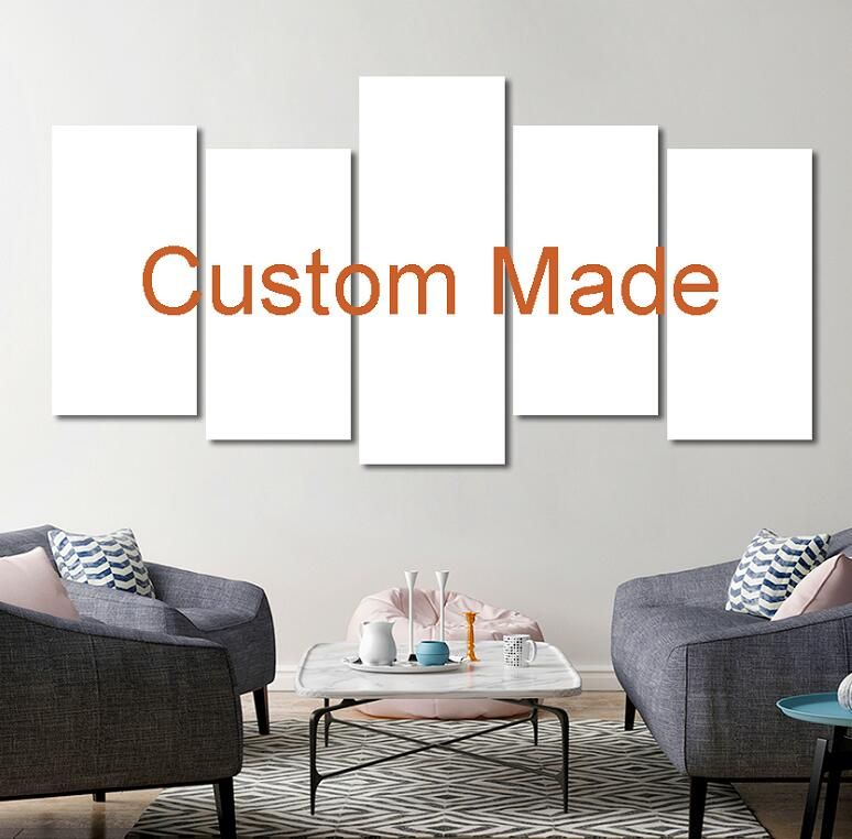 Customized Prints Painting Custom Made Canvas Picture Frame 5 Panel Modular Home Decor Drop Shipping