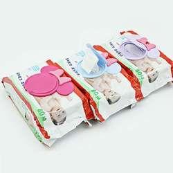 1 Pc Coloré Nouveau Bébé Humide Couvercle De Papier Humide Lingettes Couverture Tissu Humide Réutilisable Couvercle Bébé Soins
