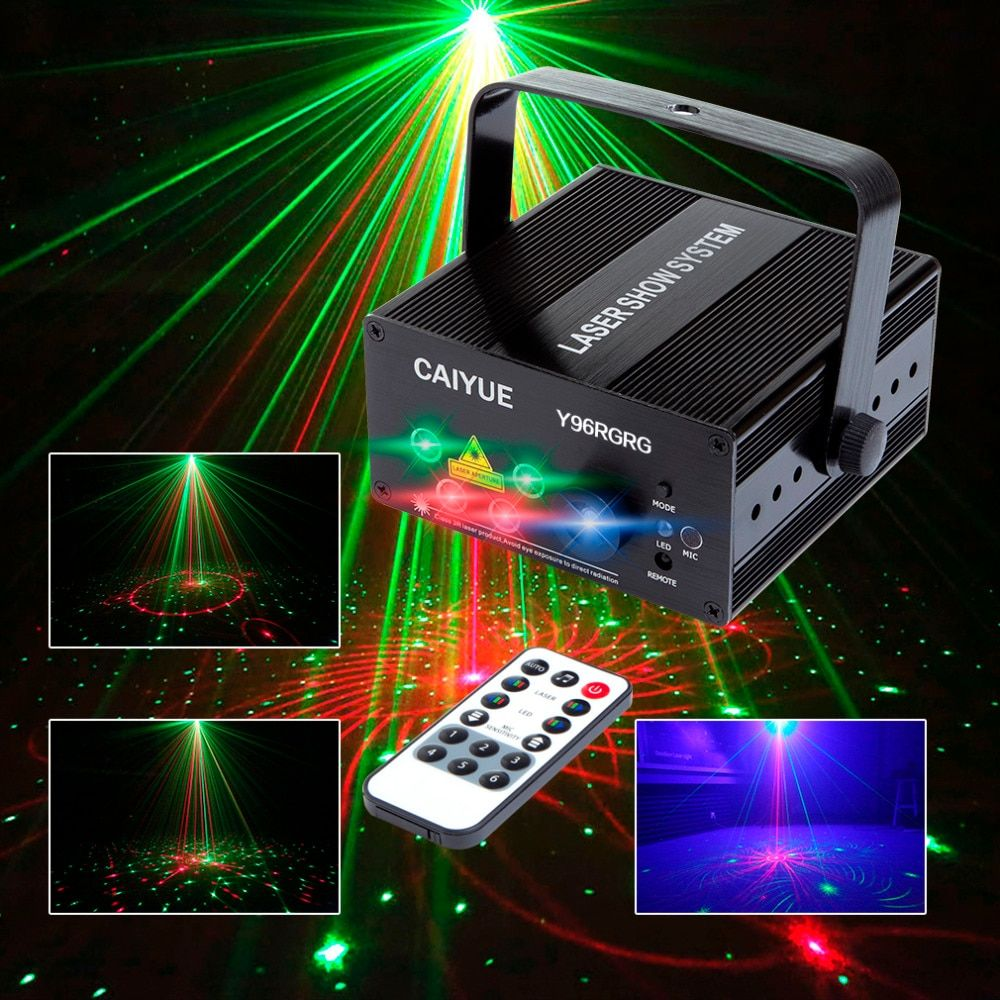 96 Patterns Projector DJ Laser Stage Light RG red green Blue LED Magic Effect Disco ball with controller <font><b>moving</b></font> head Party Lamp