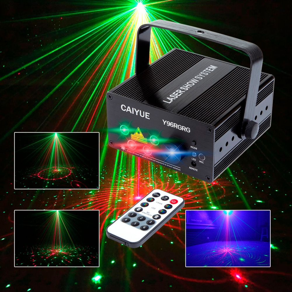 96 <font><b>Patterns</b></font> Projector DJ Laser Stage Light RG red green Blue LED Magic Effect Disco ball with controller moving head Party Lamp