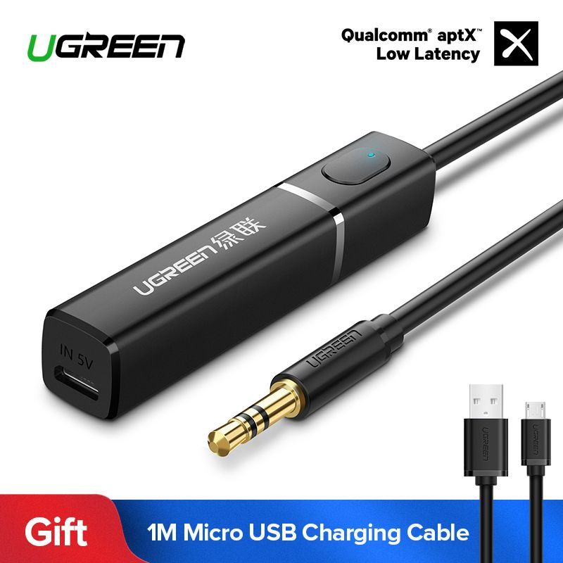 Ugreen Bluetooth Transmitter 4.2 for TV Headphones PC APTX 3.5mm Aux Bluetooth Adapter Optical Audio Music Bluetooth Transmitter