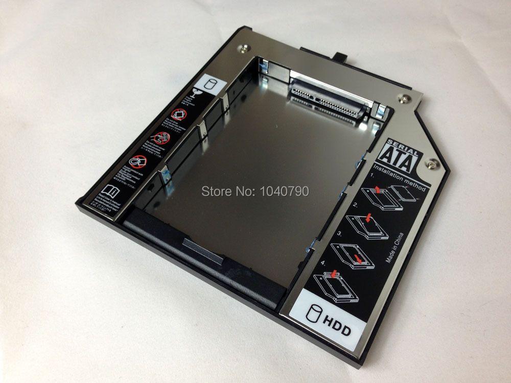 2016 neue versionSATA Fest Driver Disk Adapter 9,5mm DVD-ROM Optibay stahllegierung disk halterung für Thinkpad T400 T410 T500 T430s