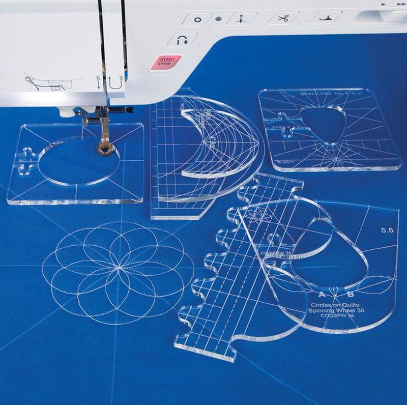 # RL-06 neue herrscher vorlage sampler set für haus sewing maschine 1 set = 6 stücke