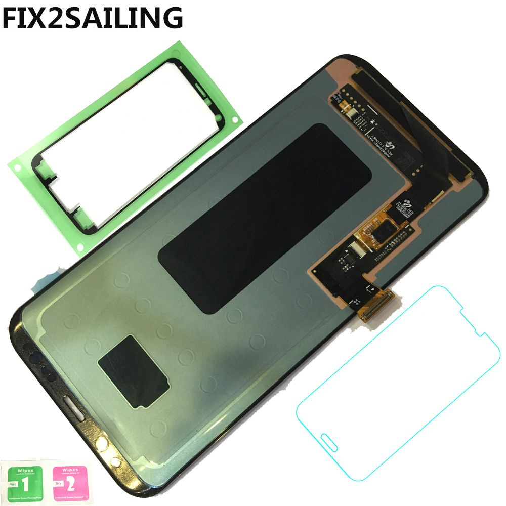 Neue LCD Display 100% Geprüfte funktion Touch Screen Für Samsung Galaxy S8 Plus G955 G955F G955A G955T G9550 Schwarz