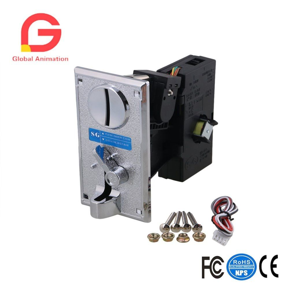 Black Plastic Plate CPU Coin Selector Acceptor Comparative Side Cast Support One Kind Token/Coin with One Output