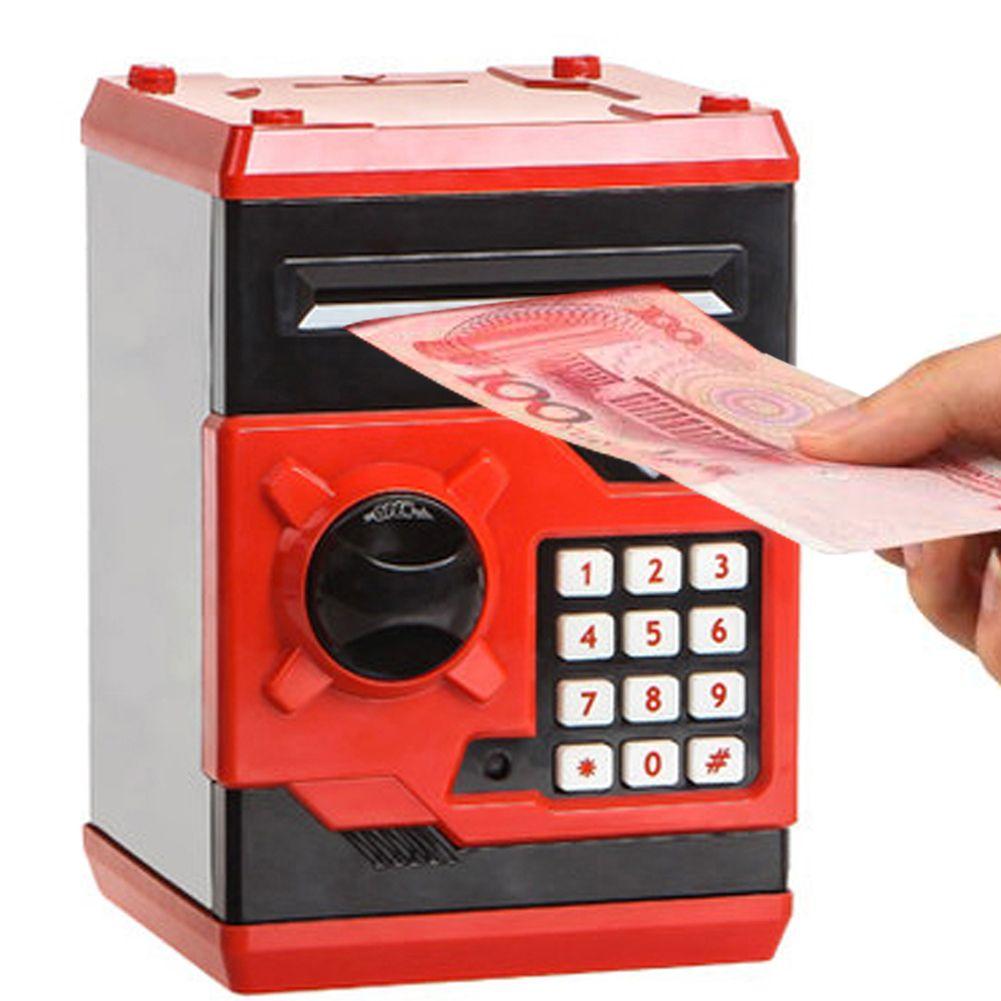 Metal rojo Cabina de Teléfono Alcancía Caja de Dinero para Los Niños Caja de Dinero Niños Coin Ahorro Pot Regalos de Navidad de Alta Calidad