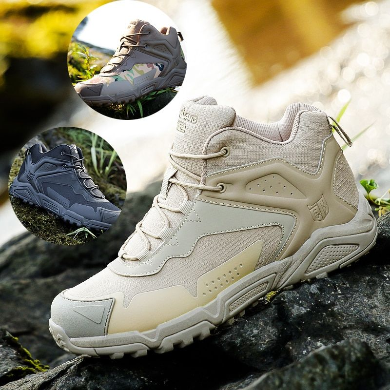 Sports Hiking Boots Men Military Rock Climbing Training Shoes Army Combat Boots Tactical Paintball Shoes Hunting Camouflage Boot