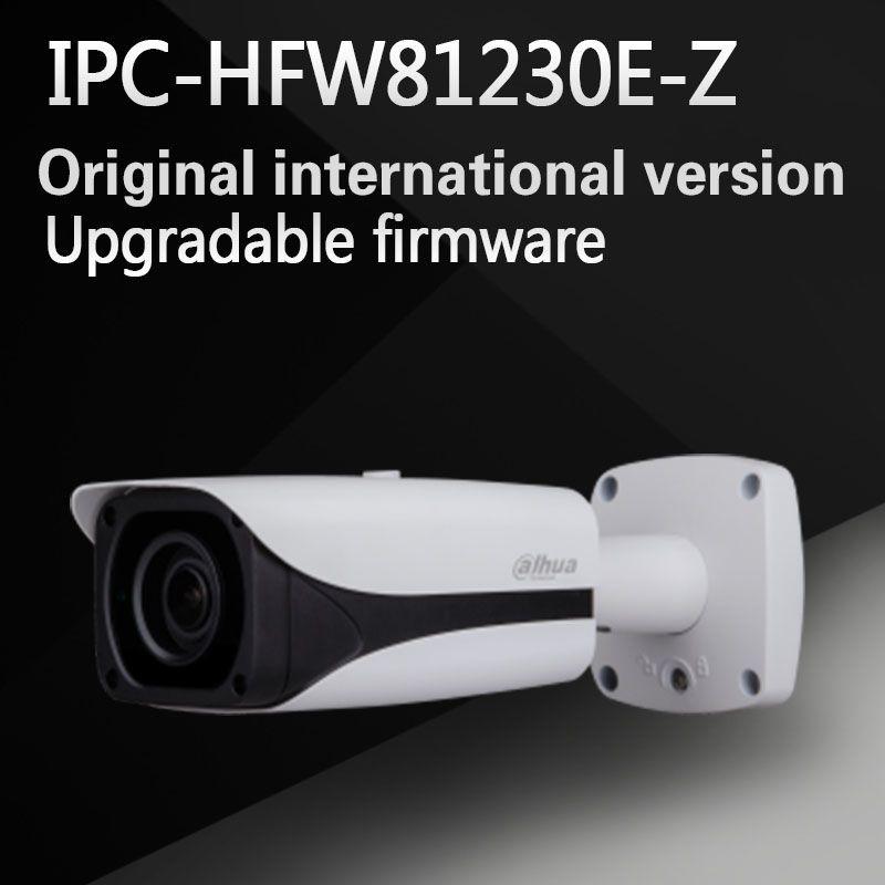 Freies Verschiffen DAHUA Sicherheit Ip-kamera 12MP FULL HD IR Gewehrkugel-netzwerkkamera IP67 IK10 Mit POE Ohne Logo IPC-HFW81230E-Z