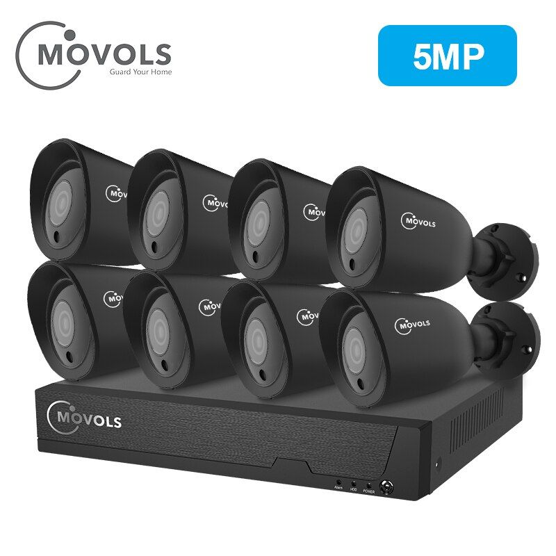 MOVOLS 8CH HD 5.0MP Sicherheit Kamera System Outdoor Indoor 8x5 megapixel 2560*1920 HD CCTV Kamera video überwachung kits