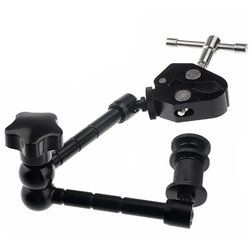 New Hot Super Clamp 11 inches magic articulated arm for mounting HDMI Monitor LED Light LCD Video Camera Flash Camera DSLR