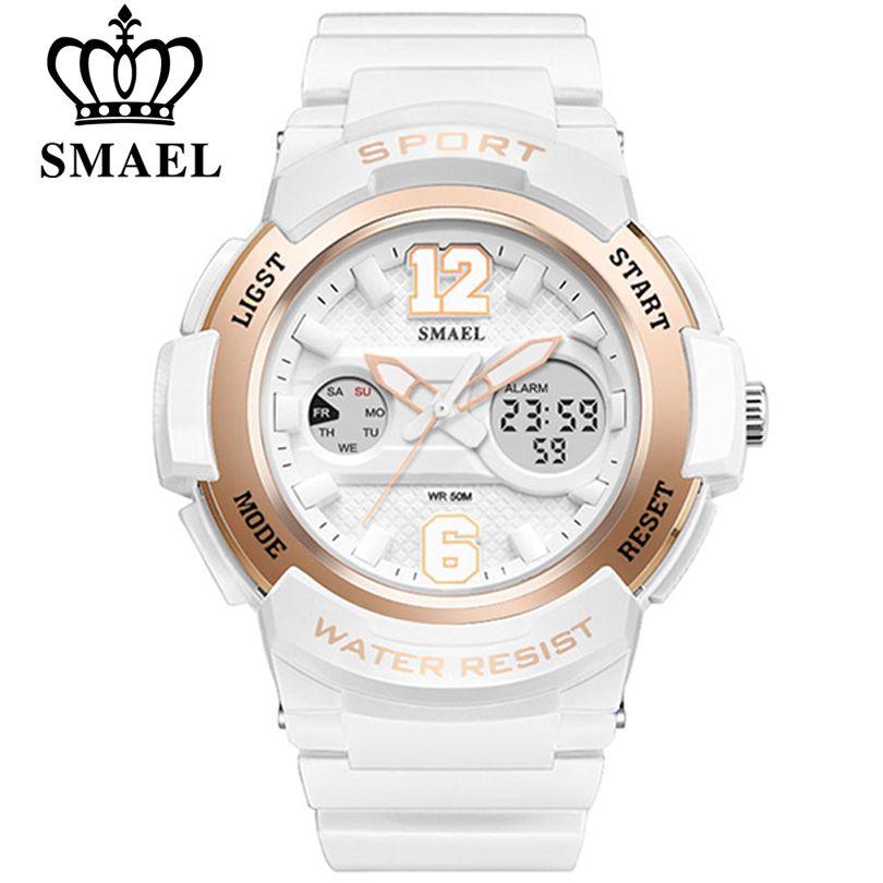SMAEL Watch Women brand luxury Fashion Casual quartz watches leather sport Lady relojes <font><b>mujer</b></font> Dress Digitalwristwatch Girl Clock