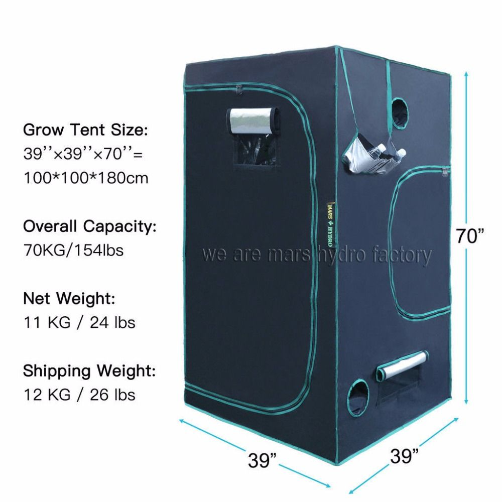 1680D Marshydro Intérieur Hydroponique élèvent la tente 100*100*180 cm, kit de culture, Complètement LED Système de Culture Intérieure
