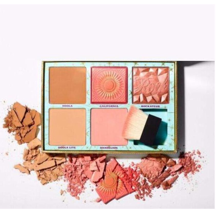 2018 New Cosmetics 5 Blush Bar Cheek Palette Blush and Bronzer Kit Palette With Brush Makeup Eyeshadow Limited Edition