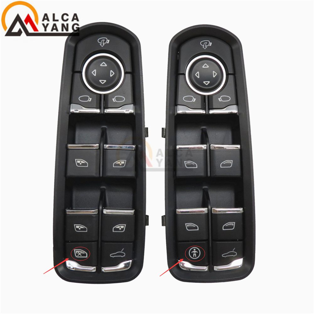 Malcayang Front Door Window Switch For Porsche For Panamera For Cayenne Macan 7PP959858RDML 7PP959858MDML