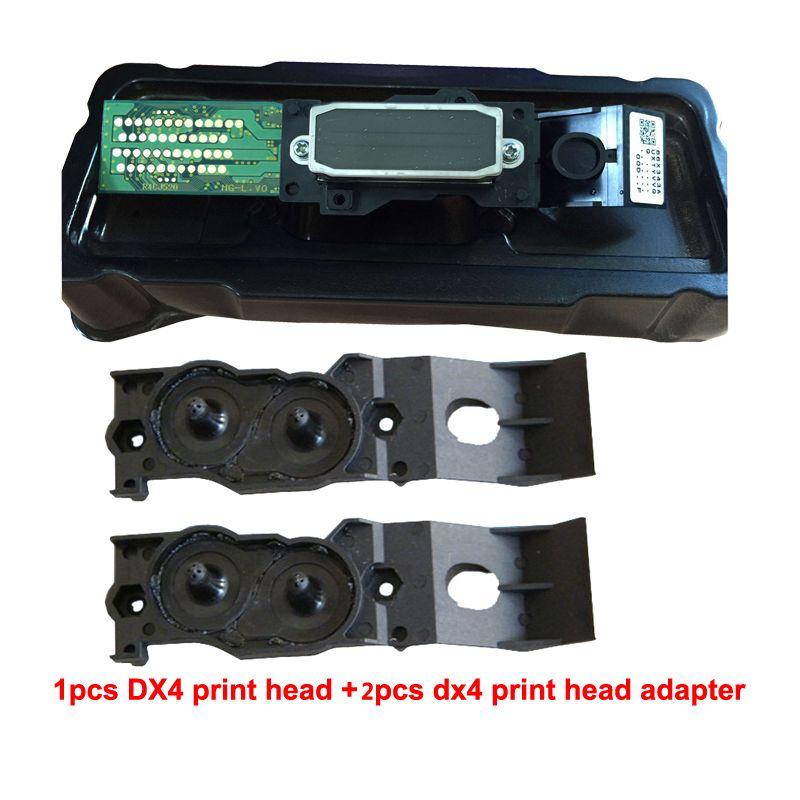Pour Epson Mutoh Mimaki Roland DX4 Éco Solvant tête D'impression + Deux Adaptateur livraison sur Haute Qualité Tête D'impression