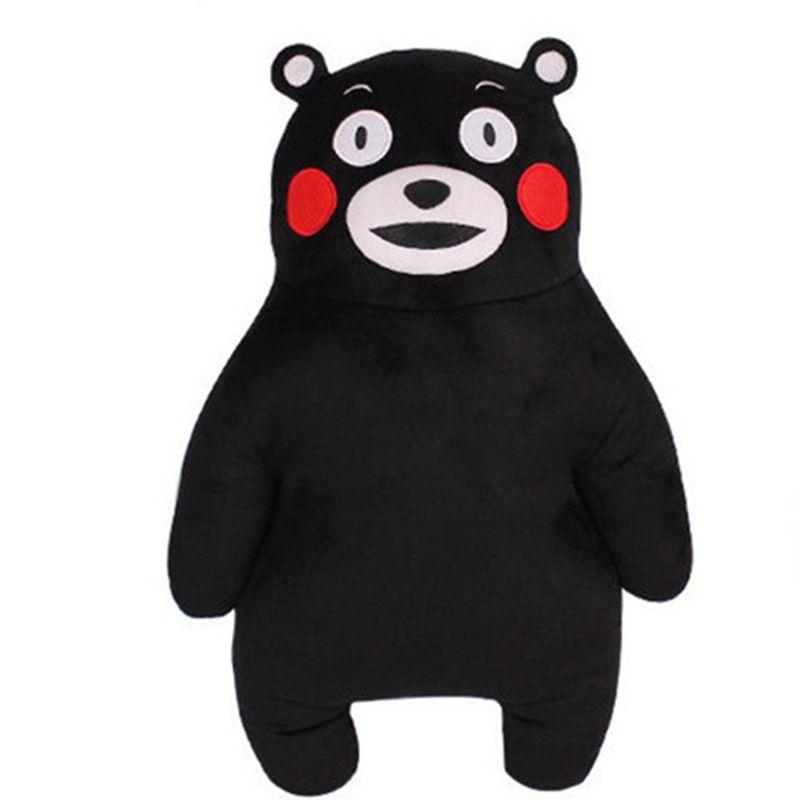 50 CM Anime japon mascotte Kumamon ours en peluche oreiller Adorable poupée 2 Styles dessin animé noir ours doux en peluche jouets pour enfants
