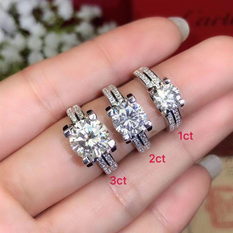 Moissanite, 925 Silber mode-design, starke feuer farbe, diamant, hohe härte VVS, D