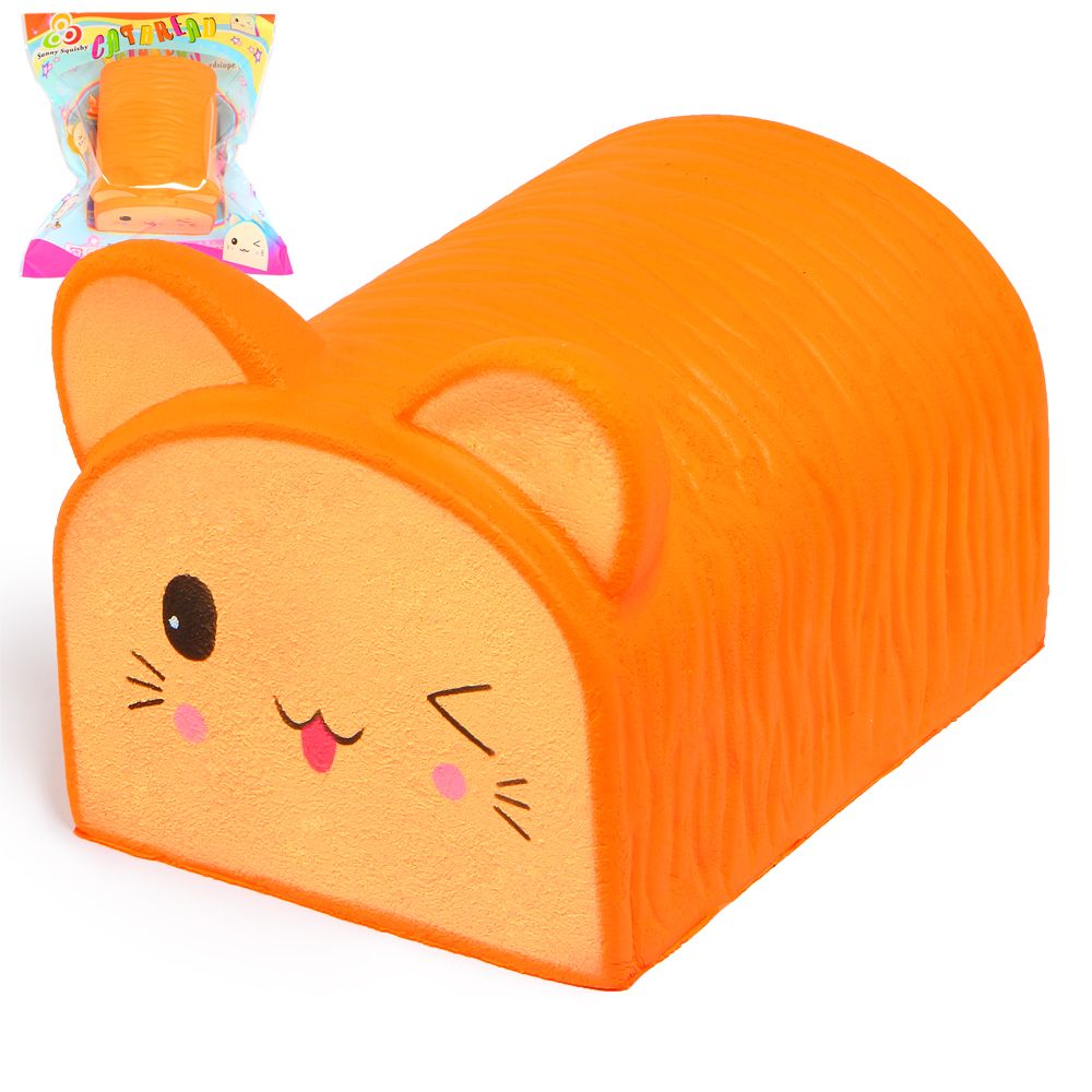 Jumbo Squishy Cute Cat Toast Bread Squishies Super Slow Rising Cream Scented Original Package Phone Strap Squeeze Toy