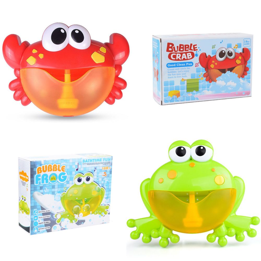 Outdoor Frog&Crabs Bubble Machine Octopus Bath Toy Baby Bubbles Maker Swimming Bathtub Soap Water Toys for Children with Music