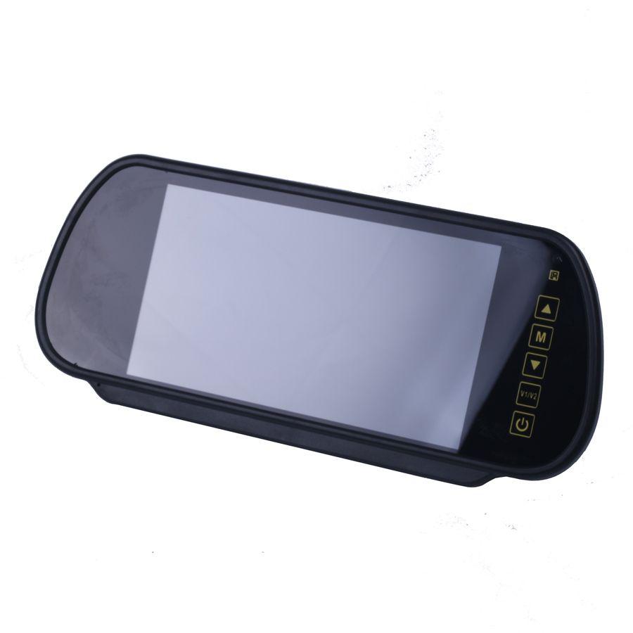 7 pouces TFT LCD écran large tactile bouton support DVD voiture rétroviseur moniteur 7 ''Parking arrière moniteur