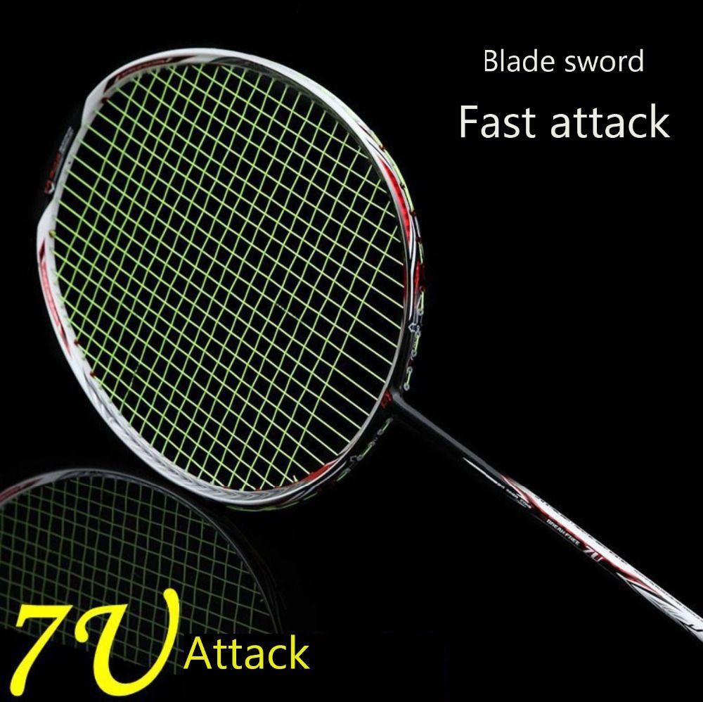 1 stück Badminton Schläger Super Licht 7U 67g G6 Badminton schläger Vollcarbon