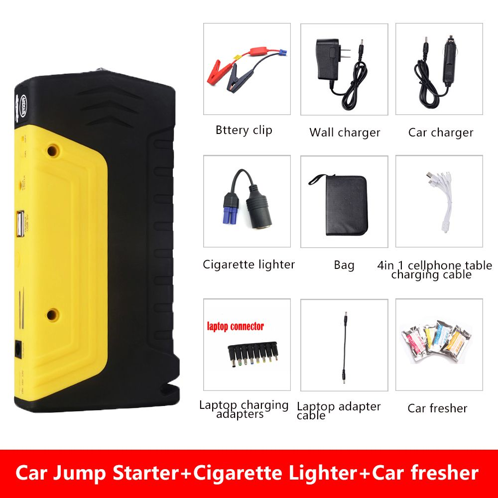 <font><b>Promotion</b></font> Multi-Function Mini Portable Emergency Battery Charger Car Jump Starter Booster Power Bank Starting Device for Camping