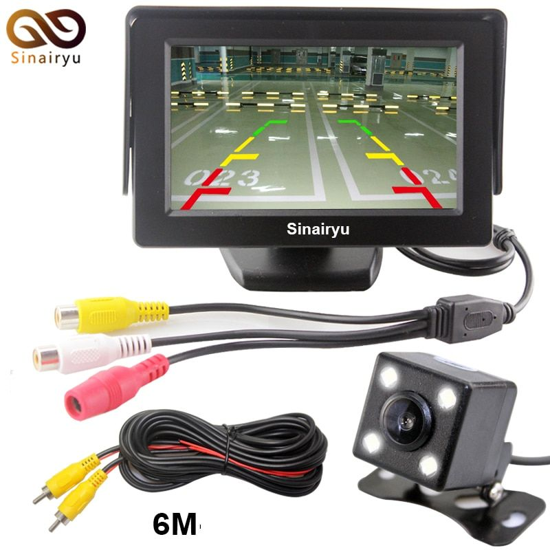 Universal Waterproof Car Rearview Parking Camera with 4.3 Inch TFT LCD Monitor for Auto Parking Reversing Backup